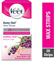 Veet Hair Removal Cold Wax Strips Normal Skin 20 Count