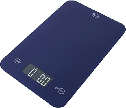 American Weigh Scales ONYX-5K-BL Slim Design Kitchen Scale, 11-Pound by 0.1-Ounce, Blue