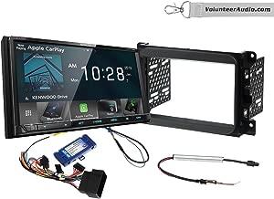 Kenwood DMX706S Double Din Radio Install Kit With Apple CarPlay, Android Auto, Sirius XM Ready Fits 2013-2014 Dodge Ram