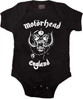 ngmaoyouxis Motorhead England Baby Unisex Body Strampler, Schwarz