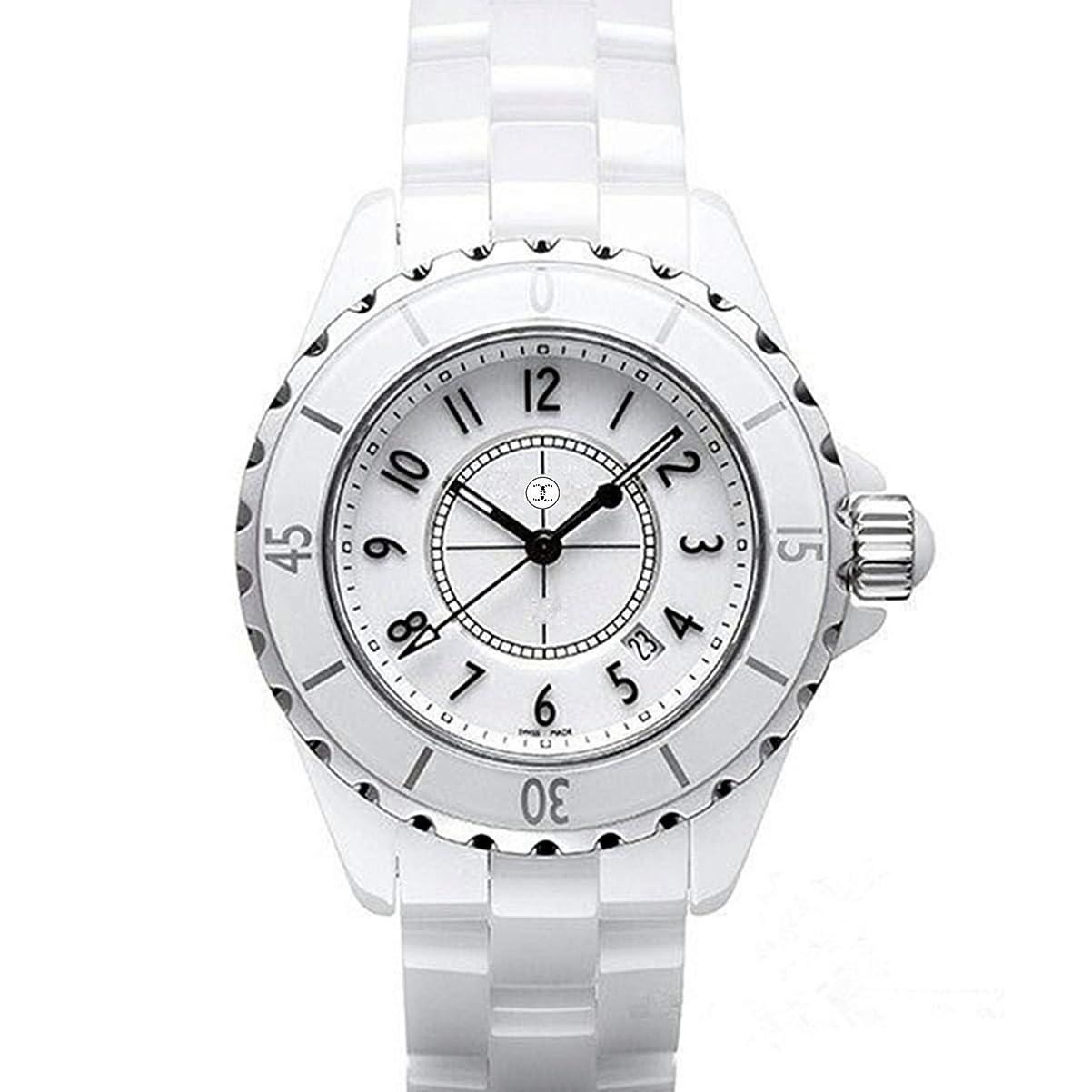 古い死にかけている理由新品 クォーツ時計 33mm ダイヤ ホワイト 白 (デジタル;ホワイト)