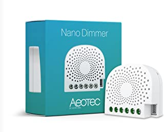 Aeotec Nano Dimmer, Z-Wave Plus in-Wall Dimmer Switch for LED, Incandescent, Halogen, Fluorescent Lights, ZW111 1.2A Neut...
