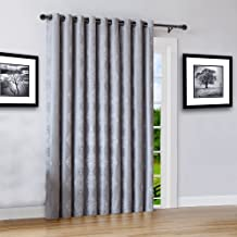 "Warm Home Designs Extra Wide 110"" x 84"" Grey Silver 100% Blackout Insulated Thermal Patio Door Panel. Drapery Can Be Used As Room Breaker or Sliding Door Curtains. RO Silver 110 x 84"