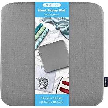 REALIKE Heat Press Mat for Cricut Easypress 2/Cricut Easypress(12X12 inch), Easy Press Mat for HTV Craft Vinyl Ironing Insulation Transfer Projects