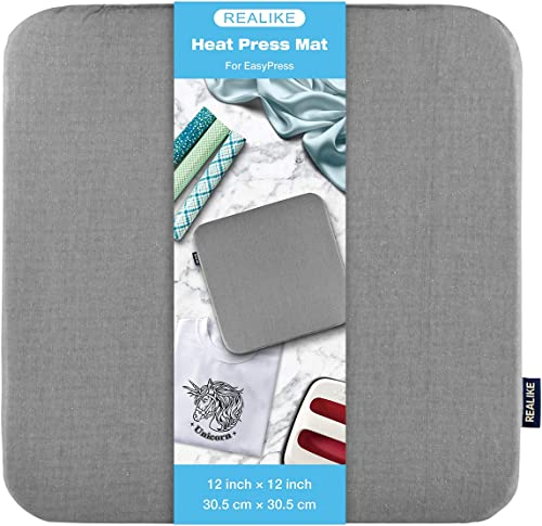 REALIKE Heat Press Mat for Cricut Easypress 2/Cricut Easypress(12X12 inch), Easy Press Mat for HTV Craft Vinyl Ironin...