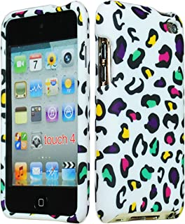 Bastex Hard Rubberized Animal Print Case for Apple iPod Touch 4, 4th Generation - Pink, Yellow, Green, Purple Leopard Design