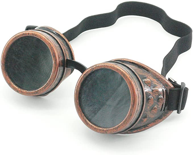 Steampunk Accessories | Goggles, Gears, Glasses, Guns, Mask Sepia Cyber Goggles Steampunk Welding Goth Cosplay Vintage Goggles Rustic (Copper)  AT vintagedancer.com