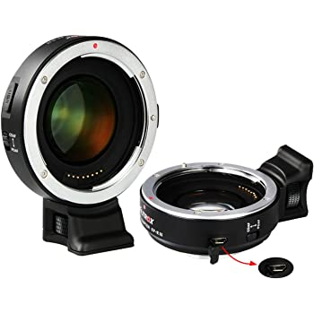 VILTROX EF-E II Electronic Lens Adapter Focal Reducer Booster for Canon EF Mount Lenses to Sony E Mount APS-C Camera Body with PDAF&CDAF Focus Mode and USB Update Port