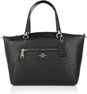 69a043c66d Coach sac en cuir de prairie noir sac à main de dames de galet noir [