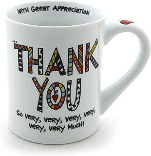 "Our Name is Mud ""Thank You"" Porcelain Mug, 16 oz."