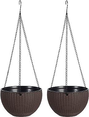 nullie ハンギングバスケット プランター 植木鉢 ガーデニング 吊り下げ 2個セット