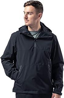 Rain Jacket Waterproof Pullover for Men Lightweight Hoodie Windbreaker Raincoat