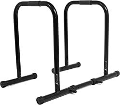ProsourceFit Dip Stand Station, Heavy Duty Ultimate Body Press Bar with Safety Connector..