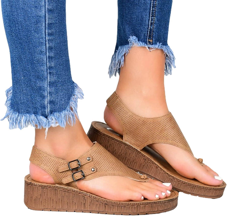 Wedge Sandals for Women, Women's Thong Wedge Sandal Wedge Flip N