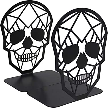 Bookends,Book Ends,Book Ends for Home Decorative,Bookends for Shelves,Bookend,Book Ends to Hold Books,Metal Skull Bookends fo