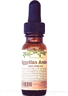Egyptian Amber Oil. Packaged in a 15 ml Amber Glass Dropper Bottle (Pure Strength, Concentrated, Undiluted Perfume Oil)