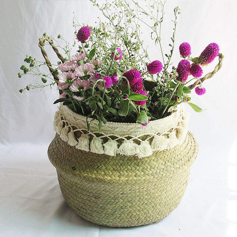 Ingzy Tassel Macrame Woven Seagrass Storage for Sales High order sale Basket Dec Belly