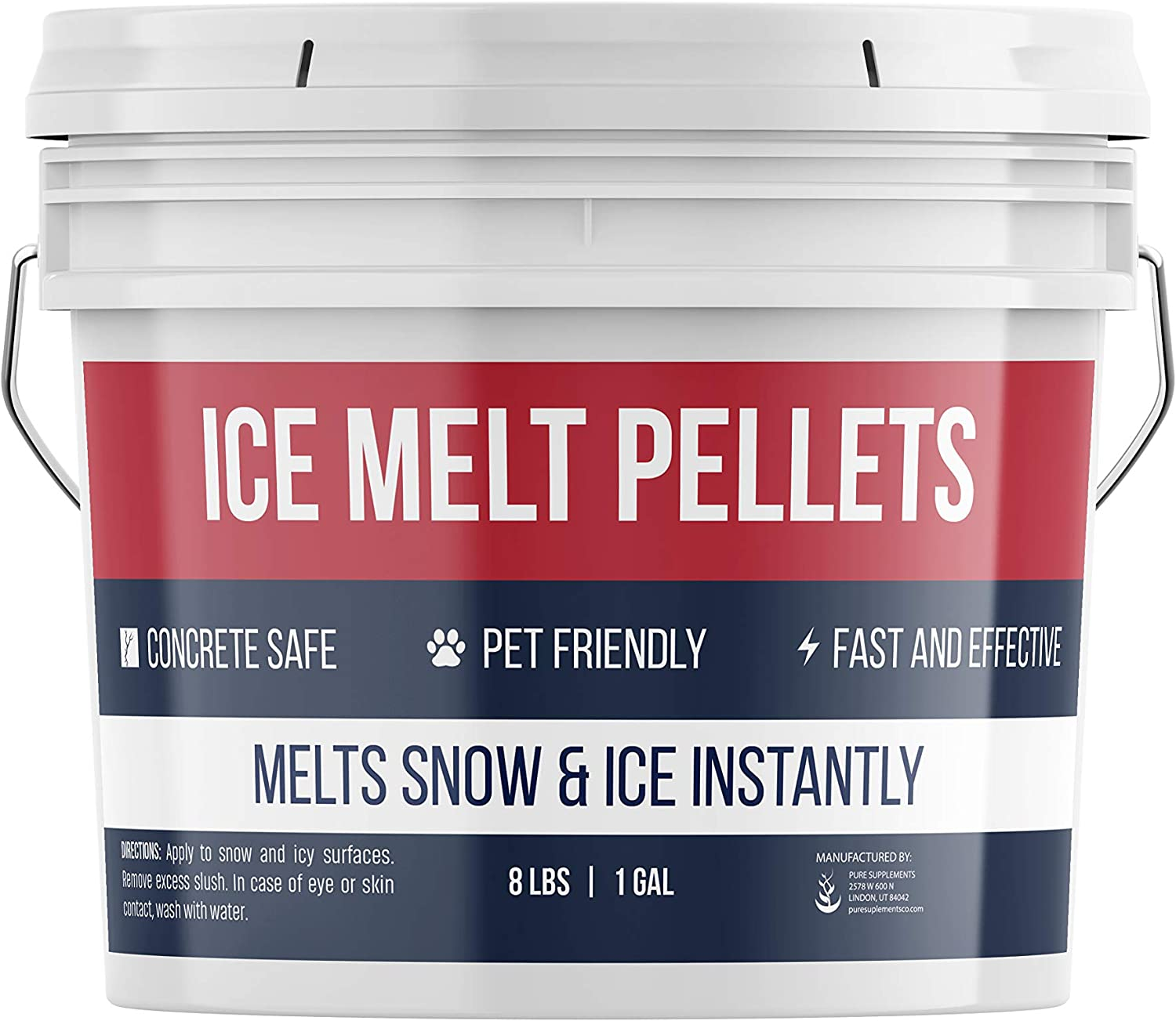 Pure Organic Ingredients Popular Japan Maker New shop is the lowest price challenge Ice Melt Gallon 1 Fast-Acting Pellets