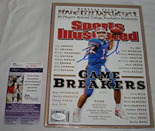 Tim Tebow Signed / Autographed Florida Gators Sports Illustrated Magazine Game Breakers- JSA Certified