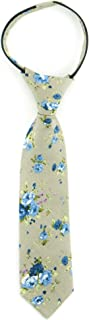 Littlest Prince Couture Taupe & Sky Floral Youth Zipper Tie 5-8 Years