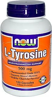 NOW Foods, L-tirosina, 500 mg, 120 capsule