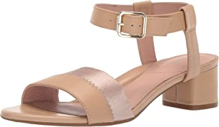 Taryn Rose Women's Makena Heeled Sandal, buff, 5 M M US