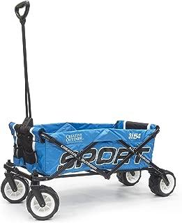 Creative Outdoor Collapsible Folding Wagon Cart for Kids | Sport Series | Beach Park Garden Sports & Tailgate | Blue