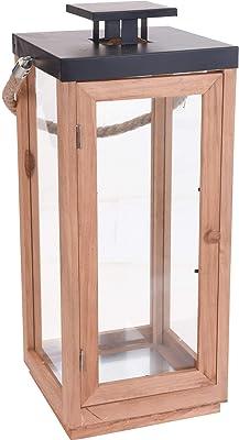 Wittkemper Living in legno Lanterna con stecche 20 x 20 x 39 cm
