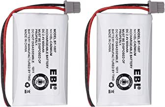 EBL Model BT1007 Rechargeable Cordless Phone Battery for Uniden BBTY0651101, 2 Pack