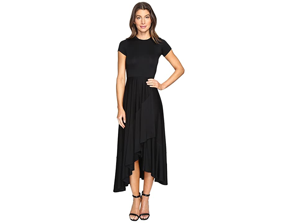 Rachel Pally Ruffle Wrap Dress (Black) Women