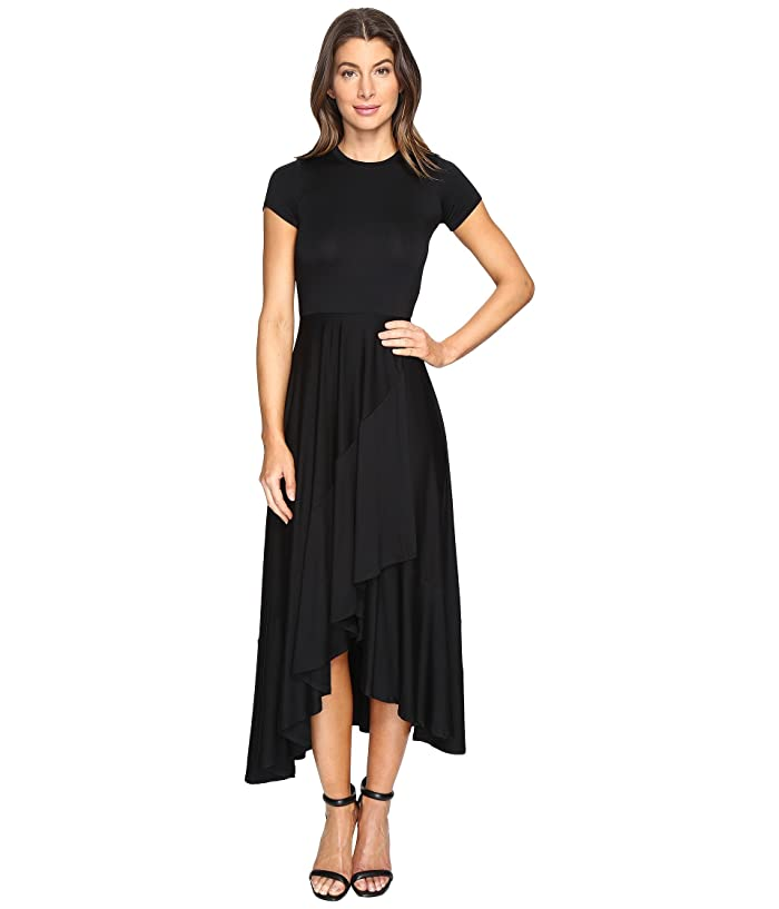 Rachel Pally Ruffle Wrap Dress (Black) Women's Dress