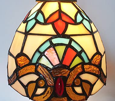 HMJ8038 Tiffany Lamps Colored Glass Shade Bead Light Table lamp Chandelier Dual Purpose (4S-1L4F-AW0E)