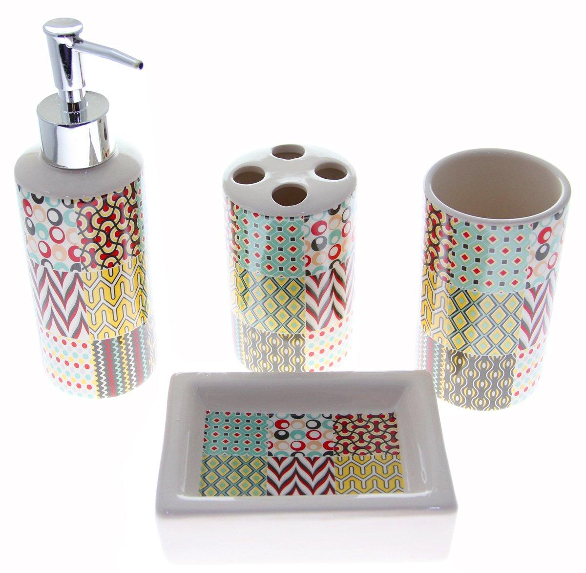 colorful bathroom accessories amazon com rh amazon com