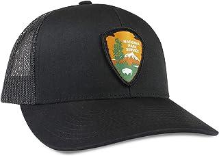 e2a236a7 National Park Service Hat - Black Trucker Mesh Adjustable Snapback Baseball  Cap by Haka Hat