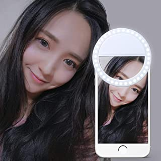 Led Selfie Ring Light Rechargeable General Model Phone for iPhone 6,7,8 Plus, for iPhone 6 7 8, for iPhone X Camera Light