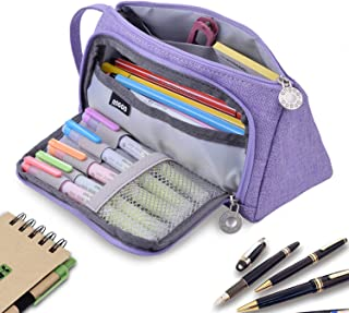 Pencil Case, Pen Case, RBEIK Big Capacity Pencil Pen Case Bag Pouch Holder for Students Middle High School Office College Girls Boys Adult Large Storage Organizer Bag (Violet)
