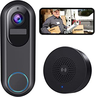 WiFi Video Doorbell Camera, Morecam Wireless Camera Doorbell with Chime,1080P HD, Motion Detection, Night Vision, 2-Way Au...