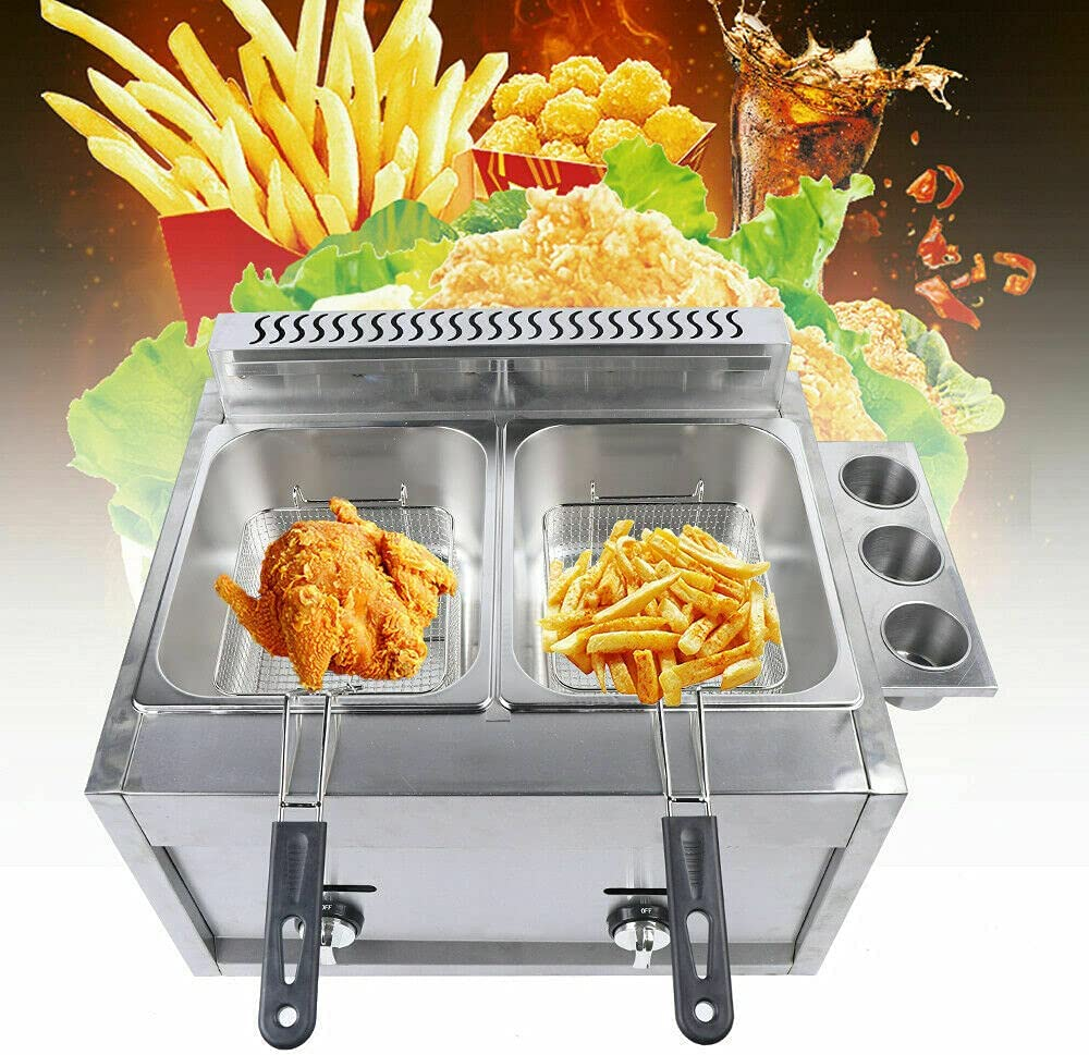 Limited time trial price Commercial Deep Gas Fryer Stainless Outdoor Chi 12l Steel Bombing new work Cooker