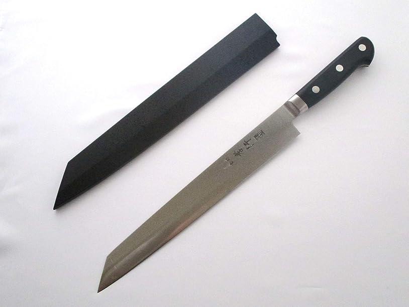 会話文批判的Sakai Takayuki Grand Chef /スウェーデンbohler-uddeholm特別なステンレススチール, Left Handed Kiritsuke yananagi 260?mm / 10.2インチ、W /ブラック鞘カバー
