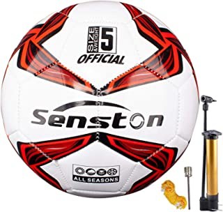 Senston Balones de Futbol Competición Training Balón Maravilloso Lustroso Balones de Fútbol de Entrenamiento Tamaño 5