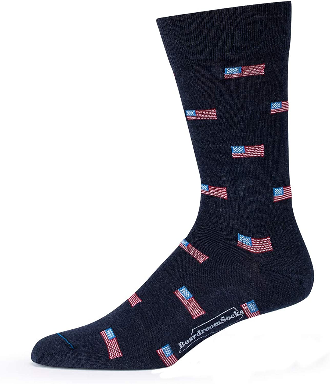 Boardroom Socks Merino Wool Mid-Calf Patterned Socks, Dress Socks for Men