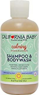 California Baby Calming Shampoo and Body Wash - Hair, Face, and Body | Gentle, No Fragrance, Allergy Tested | Dry, Sensiti...