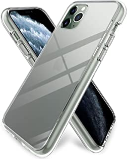 ProCase iPhone 11 Pro Max Case Clear Hard Cover (6.5 Inch, 2019 Release), Ultra Slim Lightweight Crystal Shockproof Cover with Flexible TPU Edge, Anti-Shock Anti-Slip Anti-Scratch -Clear