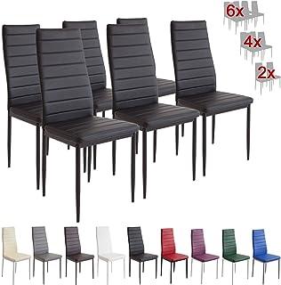 Albatros 2698 Milano Set de 6 sillas de Comedor Negro