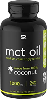 Keto MCT Oil Capsules - 2 Month Supply | Keto Fuel for The Brain & Body | Derived from Non-GMO Coconuts (240 Softgels)