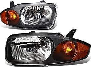For Chevy Cavalier 3rd Gen Sedan Pair of Black Housing Amber Corner Headlight Lamp