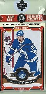Toronto Maple Leafs 2015 2016 O Pee Chee NHL Hockey Factory Sealed 16 Card Licensed Team Set Made by Upper Deck Including James Van Riemsdyk Plus