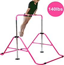 Reliancer Expandable Gymnastics Bars Junior Training Bar Adjustable Height Gymnastic Horizontal Bars Children Folding Training Monkey Bars Child Gym Climbing Tower Kip Balance Bar for Kids Gymnasts