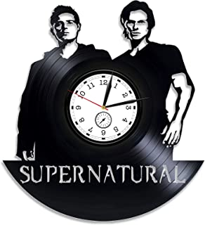 Kovides Supernatural Vinyl Clock Supernatural Wall Clock Supernatural Season 13 Xmas Gift Vinyl Wall Clock Dean Winchester Vinyl Record Wall Clock Sam Winchester Clock Supernatural 12 inch Clock