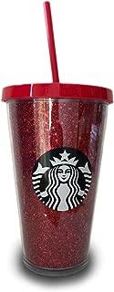 Starbucks Holiday Red Glitter Tumbler 16 Ounce